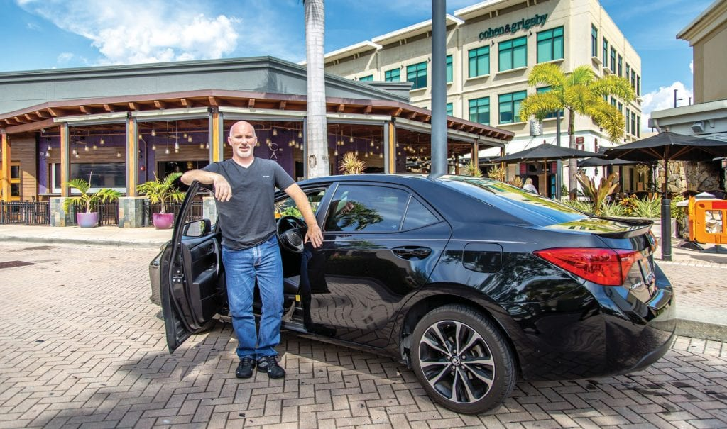 Naples resident Bill Devine works as a full-time Uber driver. VANDY MAJOR / FLORIDA WEEKLY