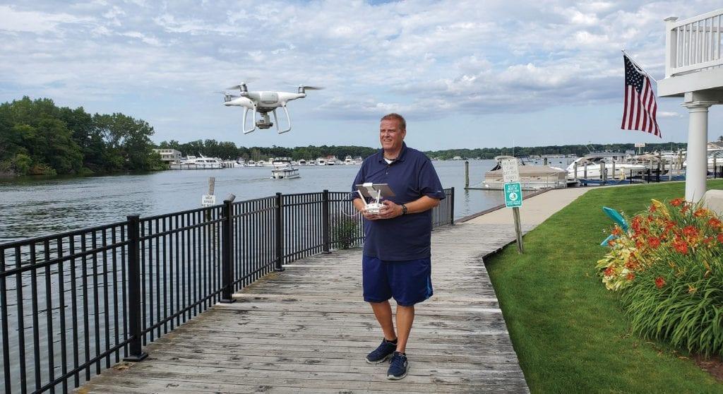 Ron Robinson shoots drone photos and videos. COURTESY PHOTO