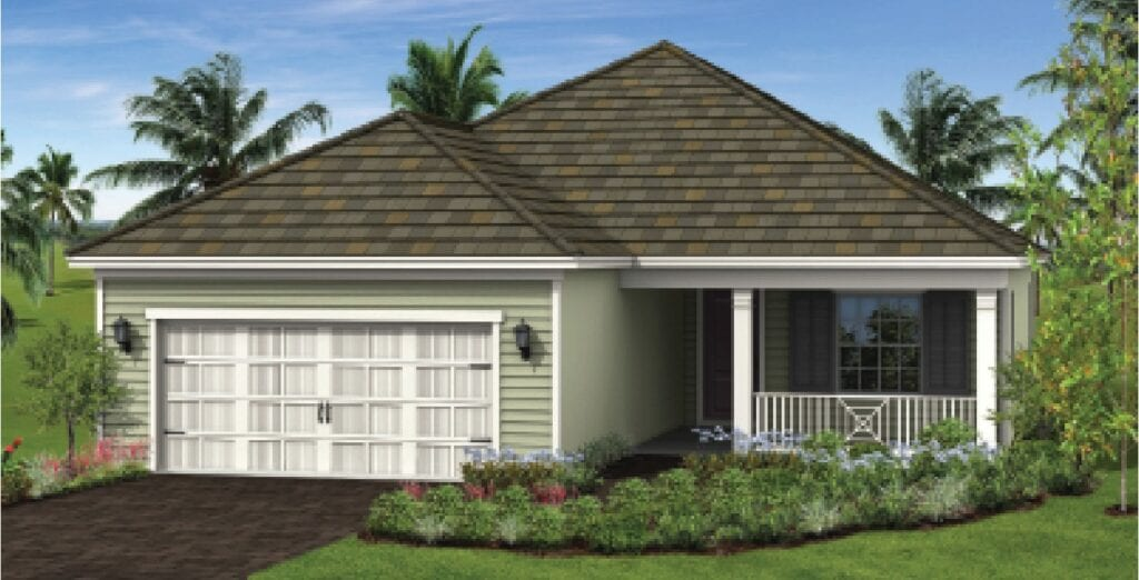 SVN and Lotus Commercial Real Estate Advisors is working with builder Neal Communities on Mangrove Estates, the 63-home portfolio in Fort Myers slated to be complete in 2021. COURTESY RENDERING